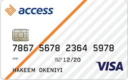 Access Bank Cards - VISA, Verve, Master cards