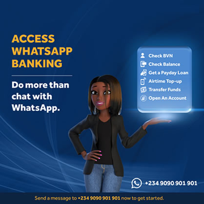 Access WhatsApp Banking